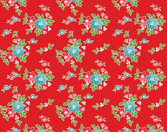Seaside by Tasha Noel Seaside Floral Red (C7232-Red)