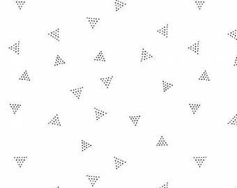 Triangle Dot - Pearl - Rae Ritchie - Chroma Basics Collection for Dear Stella  - Low Volume Print - Dear Stella Triangle Dot