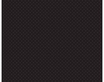 Riley Blake Designs, Swiss Dot in Tone on Tone Black (C790 110)