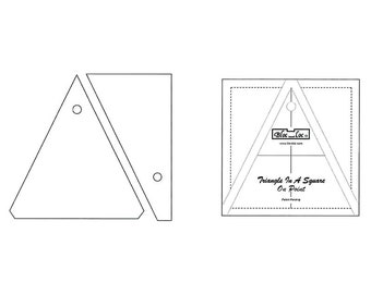 "Bloc-Loc - Triangle in A Square On Point 4"" x 4"" - Quilting Tool"
