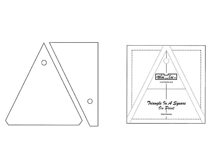 """Bloc-Loc - Triangle in A Square On Point 4"""" x 4"""" - Quilting Tool"""