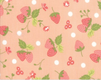 Strawberry Jam Blush Strawberry Polka Dot by Corey Yoder (Little Miss Shabby) for Moda (29062 22)