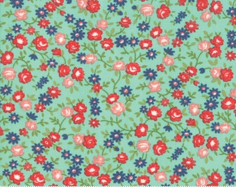 Early Bird Aqua Rosie by Bonnie & Camille for Moda Fabrics (55194 12) - Cut Options Available