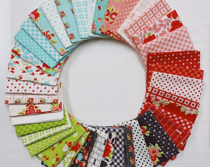 Featured listing image: Little Snippets by Bonnie & Camille (55180AB) Fat Quarter bundle - 40 FQ's for Moda Fabrics - Quilting Cotton Fabric - Precut Bundle