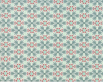 Kringle Claus - Frosty Flakes - Snow - (30594 12) - BasicGrey Kringle Claus for Moda Fabrics -  Cotton Quilting Fabric - Kringle Klaus