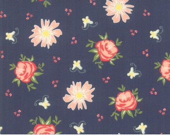 Harper's Garden Navy Roses by Sherri and Chelsi for Moda Fabrics (37570 18) Cut Options Available