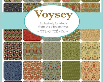 Voysey, Exclusively for Moda from the V&A Archives -  Mini Charm Pack(7320MC)