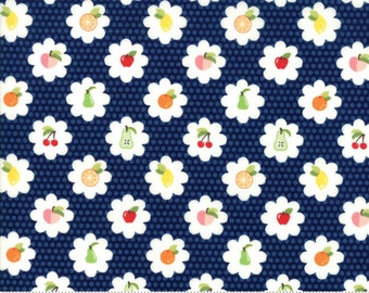 Orchard Grove - Blueberry - April Rosenthal Orchard for Moda Fabrics (24072 15) - 3/4 yard remnant