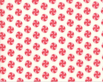 Sweet Christmas - Peppermint Polka Dot - Marzipan (31154 11) Urban Chiks Sweet Christmas for Moda - Quilting Fabric - Cut Options Available