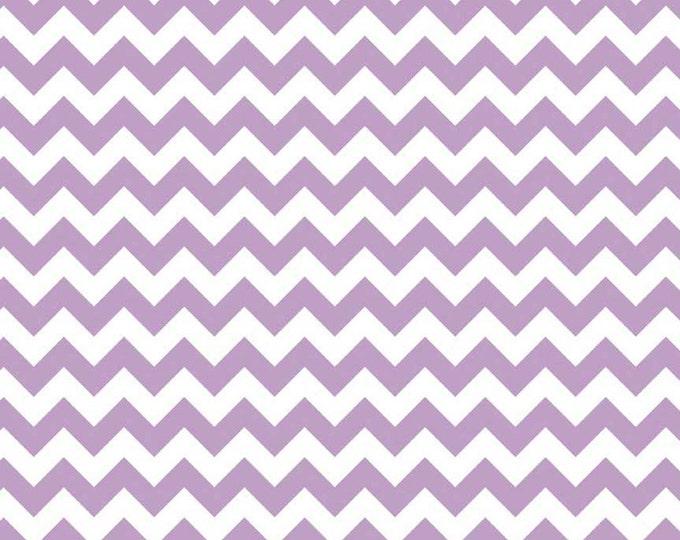 """Riley Blake Designs, Small Chevron in Lavender (C340 120) - 15"""" remnant piece"""