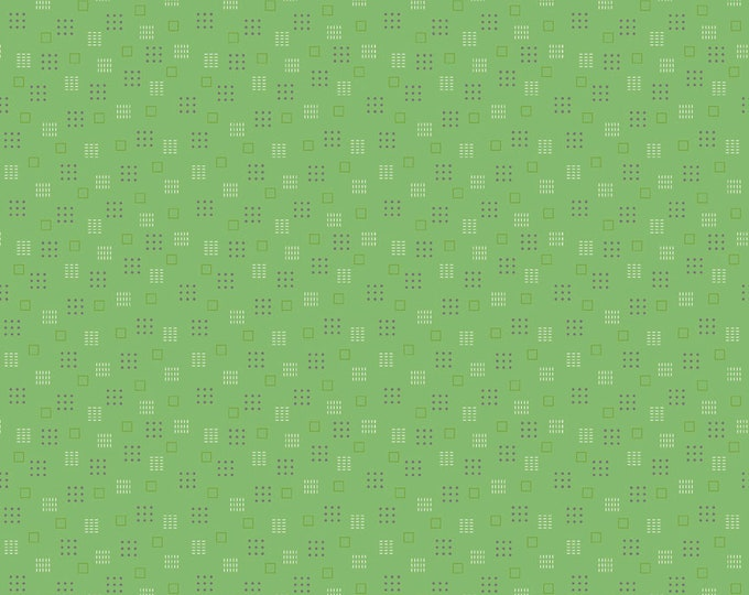 Autumn Love by Lori Holt Squares Green (C7368-GREEN)