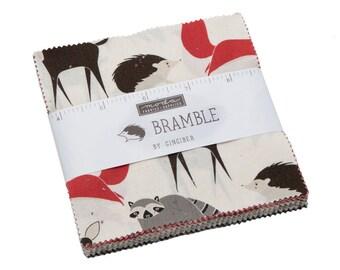 Bramble Charm Pack by Gingiber for Moda Fabrics (48280PP) - Animal Fabric