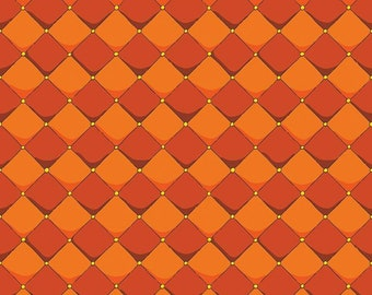 Dragons Checkered Orange (C7665-ORANGE) by Ben Byrd from Dragons for Riley Blake Designs