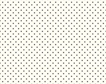 Black Swiss Dots on Cream by Riley Blake Designs  (C600 110) - Swiss Dots Fabric - Cut Options Available