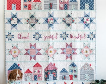 Let's Stay Home Quilt Kit by Riley Blake Designs, featuring Fox Farm by Melissa Mortenson (The Polka Dot Chair) - Video Quilt Along!