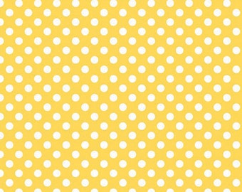 Riley Blake Designs, Small Dots in Yellow (C350 50)