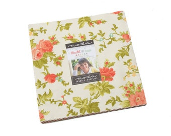 Fig Tree Scarlet and Sage Layer Cake by Fig Tree (20360LC) for Moda - Quilting Cotton Fabric
