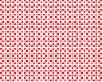 Simple Goodness Red Checker Dots by Tasha Noel  (C7932-RED)