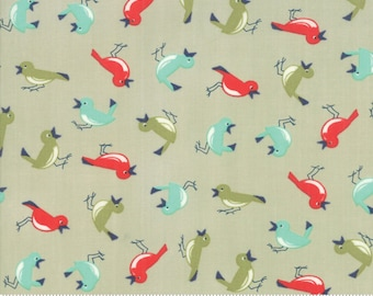 Early Bird Gray Vintage Birds by Bonnie & Camille for Moda Fabrics (55192 14) - Cut Options Available
