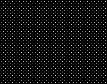 White Swiss Dot On Black by Riley Blake Designs (C670 110) - Swiss Dot Fabric - Cut Options Available