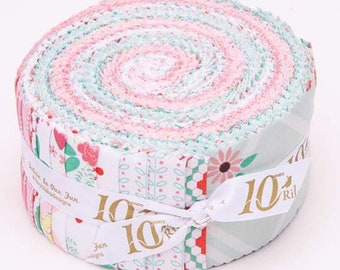 Rose Lane Rolie Polie by Beverly McCullough of Flamingo Toes for Riley Blake Designs - Jelly Roll - Fabric Precut