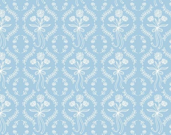 Pemberley Light Blue Wallpaper by Citrus and Mint Designs for Riley Blake Designs (C8825-LTBLUE)  - Jane Austen Fabric