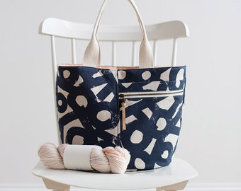 Crescent Tote Kit Featuring Cotton Linen Canvas by Ruby Star Society - Packaged by Moda