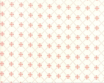 Scarlet and Sage Ivory Trellis by Fig Tree & Co. for Moda (20367 15) - Cut Options Available