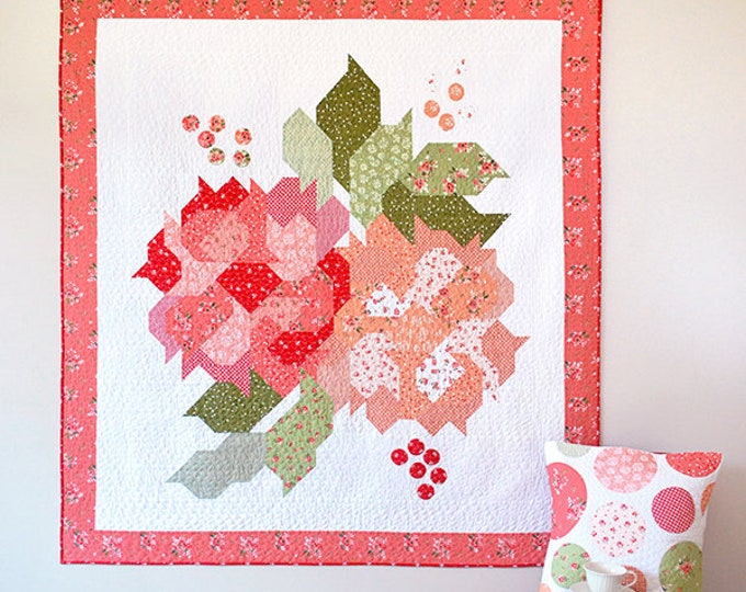 Featured listing image: Blushing Blooms Quilt Kit Featuring Summer Blush by Sedef Imer