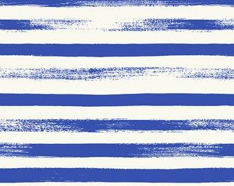 Ruby Star Society Pop Zip Blue Ribbon Stripe by Rashida Coleman Hale - Novelty Children's Fabric - (RS1005 13)