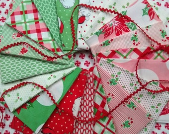 Swell Half Yard Bundle by Urban Chiks - Complete Set - 18 half yards - Christmas Fabric Bundle - Quilt Material