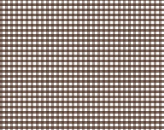 Brown Small Gingham by Riley Blake Designs (C440 90) - Brown Gingham Fabric - Basic Fabrics