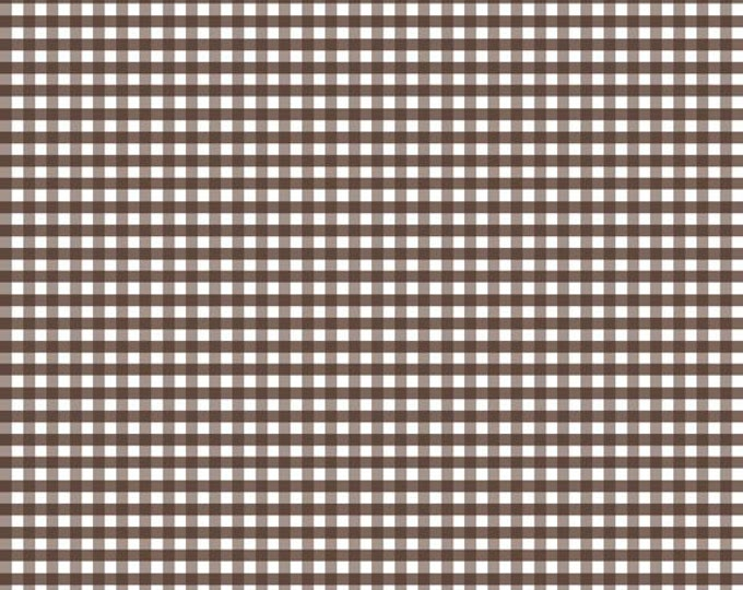 Riley Blake Designs, Small Gingham in Brown (C440 90)