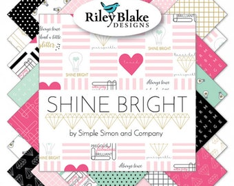 Shine Bright Fat Quarter Bundle by Simple Simon (FQ-6660-21)