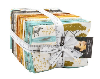 Safari Life by Stacy Iest Hsu Fat Quarter bundle - 36 FQ's  Plus Two Panels - (20640AB)  - Safari Animal Fabric