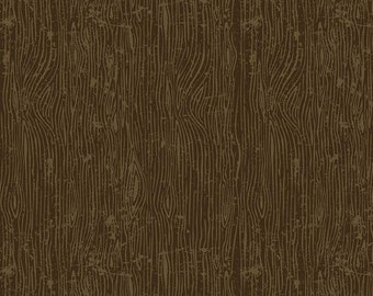 Lumberjack Aaron Brown Woodgrain by Buttermilk Basin for Riley Blake Designs (C8704-BROWN) - Cut Options Available