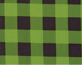 Hometown Christmas (5667 27) Pine Check Countdown by Sweetwater - SALE - Buffalo Plaid Fabric - 1/2 yard