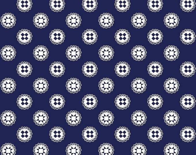 Simple Goodness Navy Quilt Stars by Tasha Noel  (C7938-NAVY)