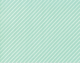 Early Bird Aqua Stripe by Bonnie & Camille for Moda Fabrics (55196 12) - Cut Options Available