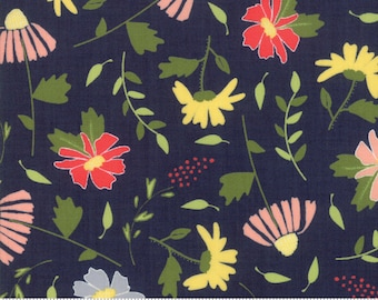 Clover Hollow Night Sky Meadow Blooms by Sherri and Chelsi (37550 18)  - 1 yard - SALE!!