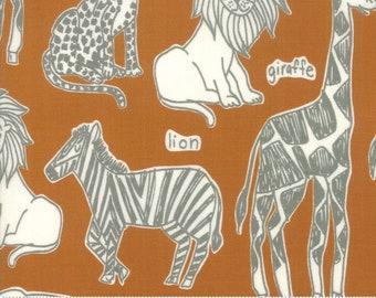 Safari Life Amber Safari Kingdom by Stacy Iest Hsu for Moda Fabrics  (20642 17) - Animal Fabric - Cut Options Available