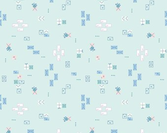 Pemberley Mint Dear Lizzie by Citrus and Mint Designs for Riley Blake Designs (C8826-MINT)  - Jane Austen Fabric