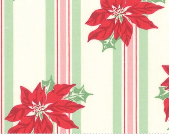 Sweet Christmas - Poinsettia Stripe - Marzipan (31150 11) Urban Chiks Sweet Christmas for Moda - Quilting Fabric - Cut Options Available