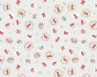 Little Red In The Woods Toss Cream (C8082-CREAM) by Jill Howarth