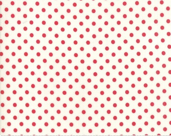 Little Snippets Red Cream Dot by Bonnie & Camille for Moda Fabrics (55185 21)