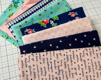 Tasha Noel Custom Pretty Bundle SALE - Varying Sizes - 8 different pieces - All Tasha Noel Fabrics - Fabric Bundle
