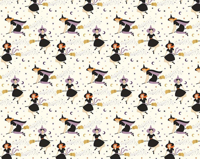 Fab-Boo-Lous Witches - Cream (C8171 CREAM) Fab-boo-lous by Dani Mogstad for Riley Blake Designs