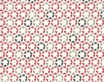 The Print Shop Cream Red Watermark Yardage by Sweetwater for Moda Fabrics  (5743 14) - Cut Options Available