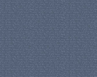 Edie Jane - Love Letter - Navy (C8182 NAVY) by Deena Rutter for Riley Blake Designs - Girl Fabric  - Cotton Quilting Fabric
