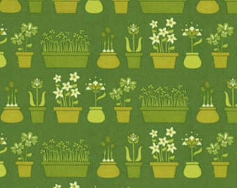 Lush by Patty Young Flower Shop in Grass (DC5385) for Michael Miller Fabrics
